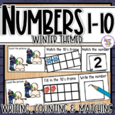 Winter Number Sense 1-10  counting, matching, reading & wr
