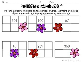 Winter Number Sense Printables