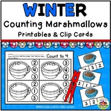 Winter Counting Clip Cards with Number Sense Printables   Counting Marshmallows