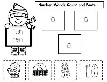 Winter Number Sense and Math Worksheets FREEBIE