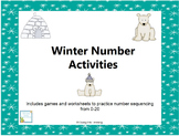 Winter Number Activities 0-20
