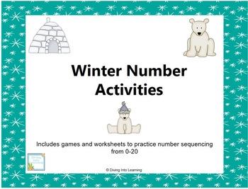 Winter Number Activities 0-20