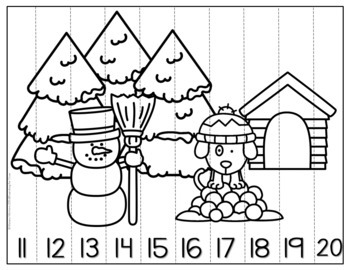 Winter Number Sequencing Puzzles, 1-120