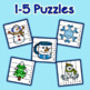 Winter Number Sequencing Puzzles