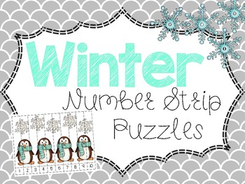 Winter Number Strip Puzzles