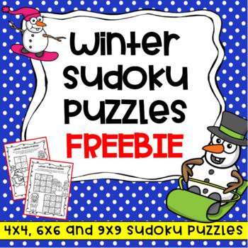 Winter Activities: Free Winter Puzzles – No Prep Sudoku