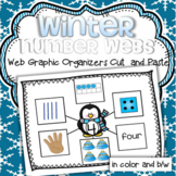 Winter Number Webs 1-10 Cut and Paste