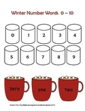 Winter - Number Words 0-10