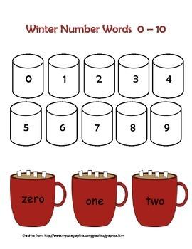 Winter - Number Words 0-10