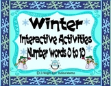 Winter – Number Words 0 to 10. Interactive Activities. CCS Aligned