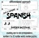 Winter – Number Words 0 to 10. Interactive Activities. SPANISH. CCS Aligned