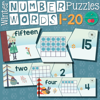 Winter Number Words Puzzles