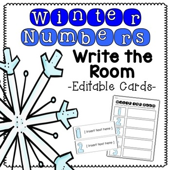 Winter Number Write the Room [Editable]