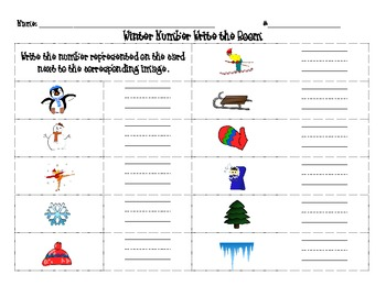 Winter Number Write the Room w/ Base-10 Blocks, 10 Frames, # Words, & Tallies