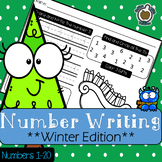 Winter Number Writing: Winter Edition (Numbers 1-20)