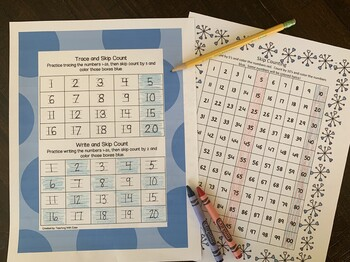 Winter Number Writing and Skip Counting