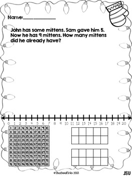 Winter Numberland - Math Word Problem Solving