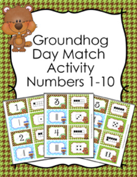 Winter Numbers 1-10 Match Activity Bundle