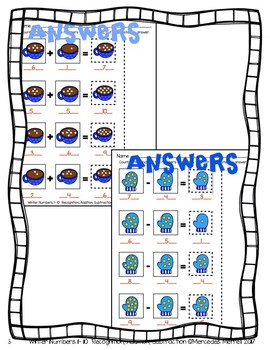 Winter Numbers 1-10  Recognition  Addition  Subtraction  K-1