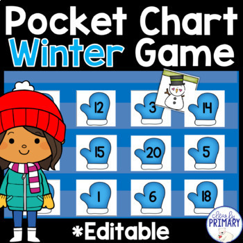 Winter Numbers 1-20 Pocket Chart Game