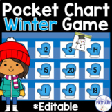 Winter Pocket Chart Game: Numbers 1-20, Alphabet & Sight Words