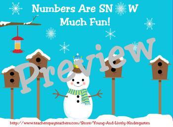 Winter Numbers 1-20 Printable Games