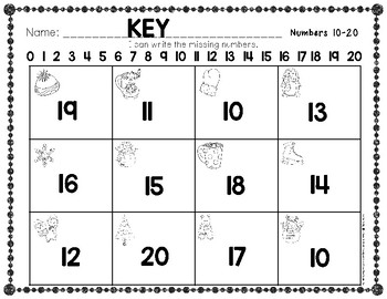 Winter Numbers 10-20