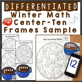 Winter Numbers & Counting w/ Ten Frames Differentiated QR