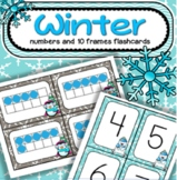 Winter Numbers and 10-frames Flashcards 0-20 Centers and Games