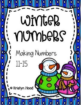 Winter Numbers - Making Numbers 11-15 Worksheets