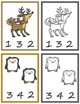 Winter Numbers Peg It Game; Kindergarten; Preschool; Homeschool; Math