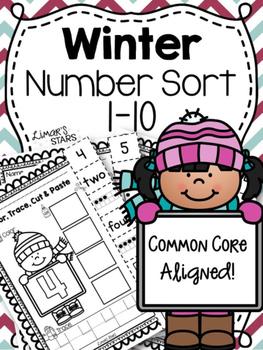 Winter Numbers Sort 1-10