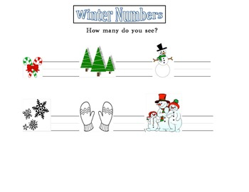 Winter Numbers Worksheet