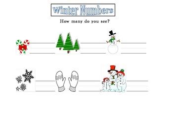 Winter Numbers Worksheet