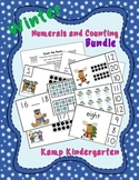 Winter Numerals and Counting Math Centers Bundle (Quantiti