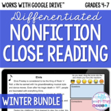 Winter ONLINE Differentiated Nonfiction Close Reading Bundle {December-February}