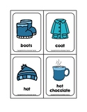 Winter Objects Picture Word Flash Cards