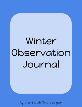 Winter Observation Journal