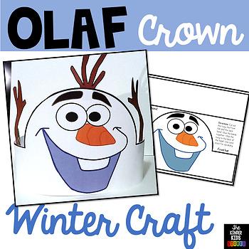 Winter Olaf Crown Craft