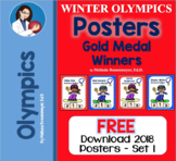 Winter Olympic 2018  Posters of Gold Medal Winners