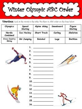 Winter Olympic Activity Packet