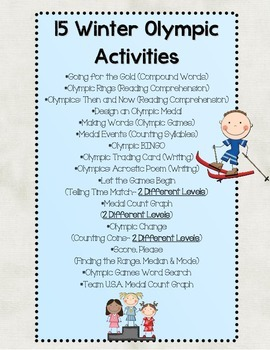 Winter Olympic Activity Set
