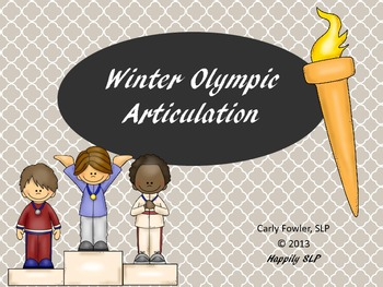 Winter Games Articulation (r,s,z,l,th, r-blends and s-blends)