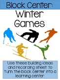 Winter Games and Sports Block Center- Preschool Learning Centers (Winter Sports)