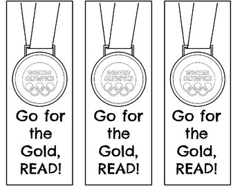 Winter Olympics Bookmarks