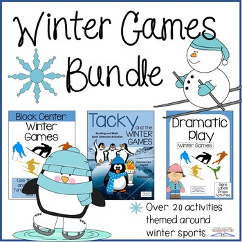 Winter Games and Sports Bundle (Dramatic Play, Block Center, and Read-a-Loud)