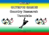 Winter Olympic Country Research Template