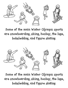 Winter Olympic Facts Printable Book