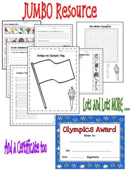 Winter Olympic Fun Package-ENGLISH Resource! Great for ESL Learners Too!