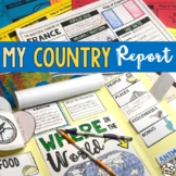 Country Research Project - Country Report with BONUS lapbook